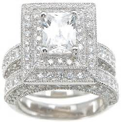 cubic zirconia wedding sets wedding ring sets with cubic zirconia a great choice