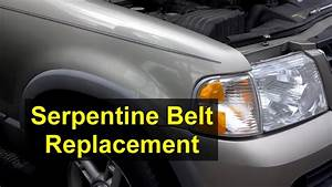 Fan Belt Or Serpentine Belt Replacement  Ford Explorer  4