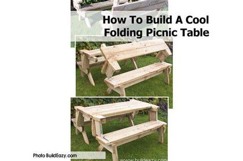 build  cool folding picnic table