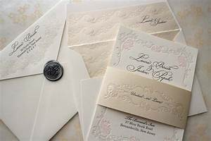 floral letterpress wedding invitations elegant onewedcom With how to make wedding invitations fancy