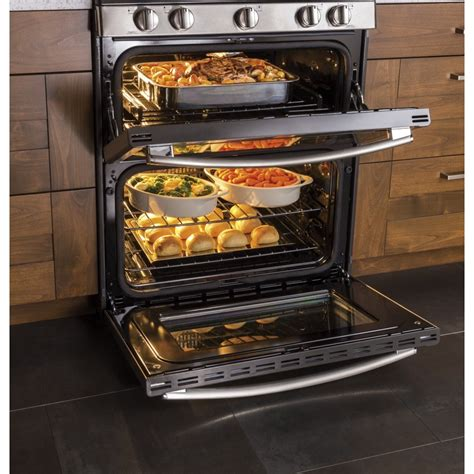 pgbzejss ge profile series   standing gas double oven convection range