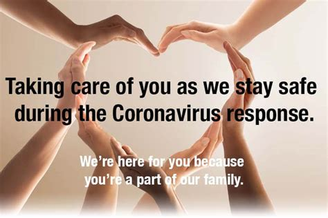 Taking care of you as we stay safe during the Coronavirus ...