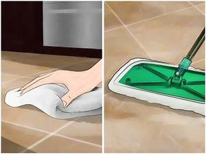 4 ways to clean grout between floor tiles wikihow for How to mop a tile floor