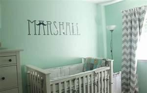 Babyzimmer Weiß Grau : wandfarbe mintgr n f r kinder und babyzimmer 50 ideen ~ Sanjose-hotels-ca.com Haus und Dekorationen