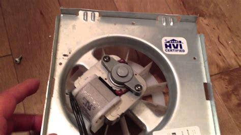 replacing  fixing  broan ecec bathroom exhaust fan