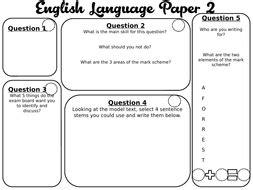 aqa english language paper   revision lesson recap teaching resources