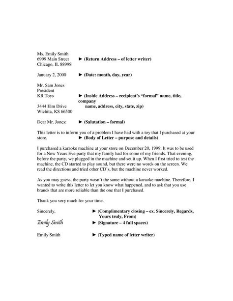write  formal business letter  template