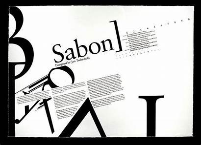 Poster Typography Sabon Type Font Specimen Typo