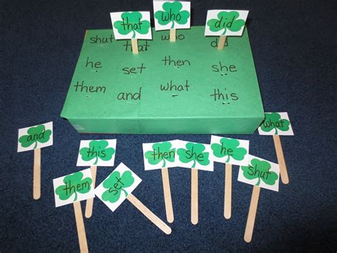 st s day activities homeschool den 701 | IMG 2472Shamrock SightReading