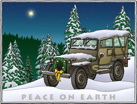 christmas jeep card all things jeep military jeep quot peace on earth quot holiday