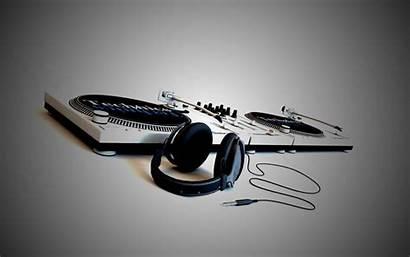 Dj Technics Artwork 1080p Headphones Console Deck