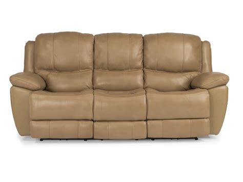 flexsteel living room leather power reclining sofa 1491