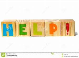 wooden blocks with help word stock photo image 39340793 With blocks with letters on them