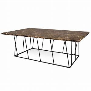 helix brown black long marble coffee table by temahome With long marble coffee table