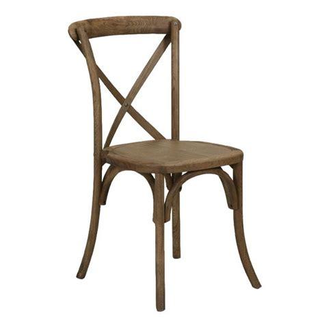 chair wood sonoma crossback rustic rentals salt lake city