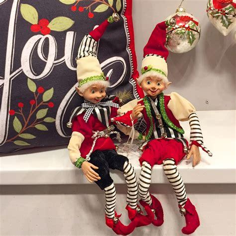 raz imports  posable elf ornament set