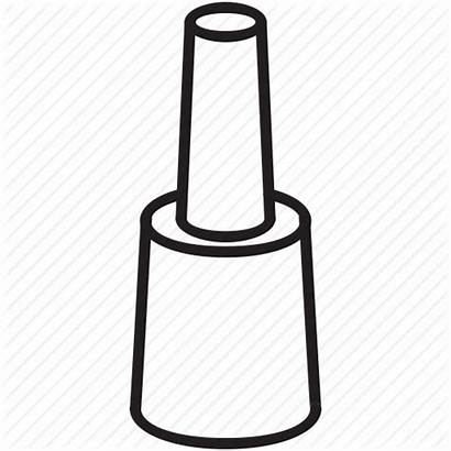 Nail Polish Hand Outline Clipart Icon Female