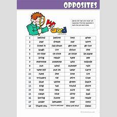 Opposites Worksheet  Free Esl Printable Worksheets Made By Teachers