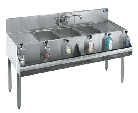 Bar Sinks With Drainboards by Krowne Metal Kr18 83c 3 Compartment S S Bar Sink With Two