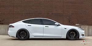 White Tesla Black Rims - Tesla Image