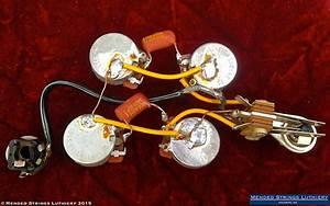 1970 Gibson Sg Standard Wiring Harness Pots Cts 500k Brass