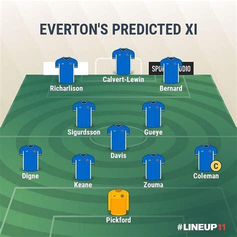 Everton vs Manchester United Predicted Lineups - Premier ...