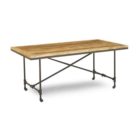 iron and wood dining table this handcrafted wood and iron dining room table is 7585