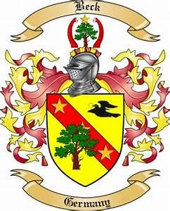 Free Genealogy Family Tree Charts Beck Family Crest From Germany By The Tree Maker