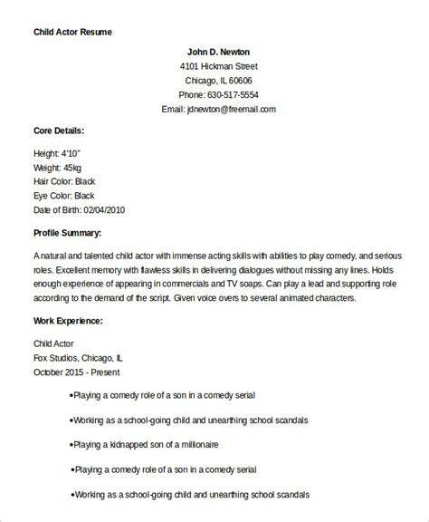 actor resume exle 7 free word pdf documents