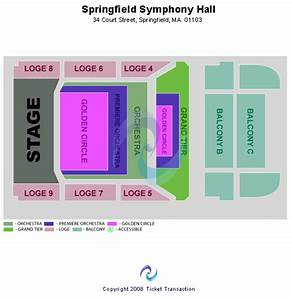 Seating Chart For Symphony Hall Boston Springfield Symphony Hall Seating Chart