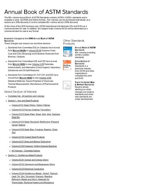 ASTM International - Annual Book of ASTM Standards