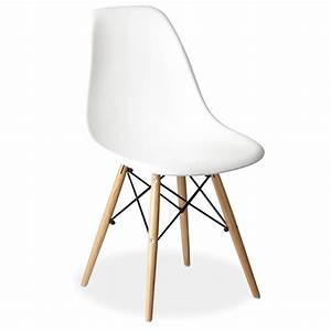 White Eames Style Dsr Wooden Eiffel Chair For Hire