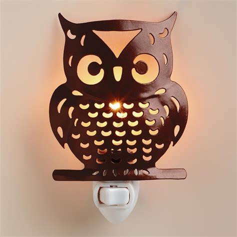 handcrafted metal owl night light world market