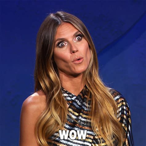 Heidi Klum Wow  By Lifetime Find And Share On Giphy