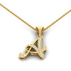 diamond studs for men a letter pendant