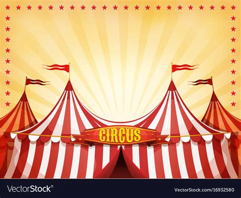 Circus Background Big Top Circus Background With Banner Royalty Free Vector