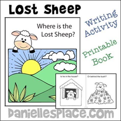 sheep crafts and activities can make 804 | Lost sheep Bible book for sunday school