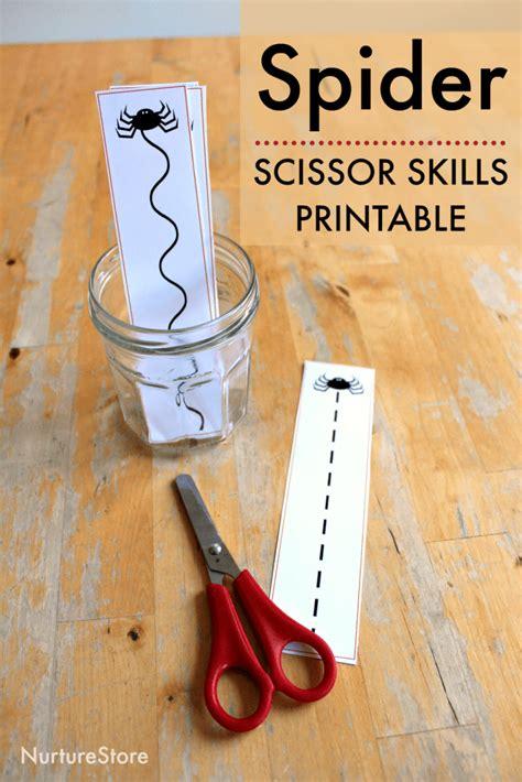 spider scissor skills printable cutting sheets nurturestore