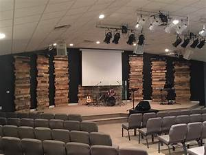 Leaning towers of pallets church stage design ideas for Church design ideas