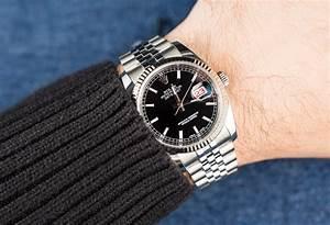 Rolex Datejust Black Dial On Wrist | www.pixshark.com ...