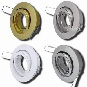 Halogen Oder Led : einbaufassung alu druckguss f r halogen oder led lm 12volt gu5 3 mr16 50mm ebay ~ Watch28wear.com Haus und Dekorationen