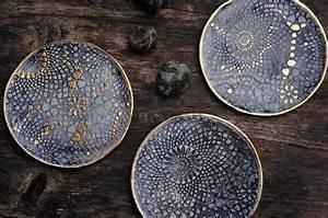 Sachen Selber Machen : basteln malen kuchen backen im goldrausch ton teller mit goldrand ~ Watch28wear.com Haus und Dekorationen
