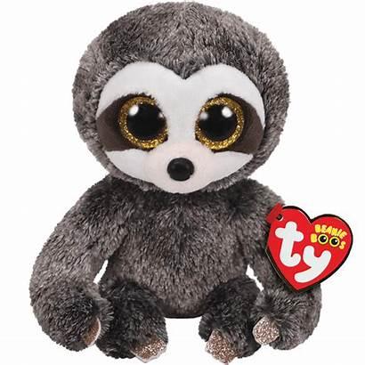 Ty Beanie Dangler Sloth Boos Grey Mini