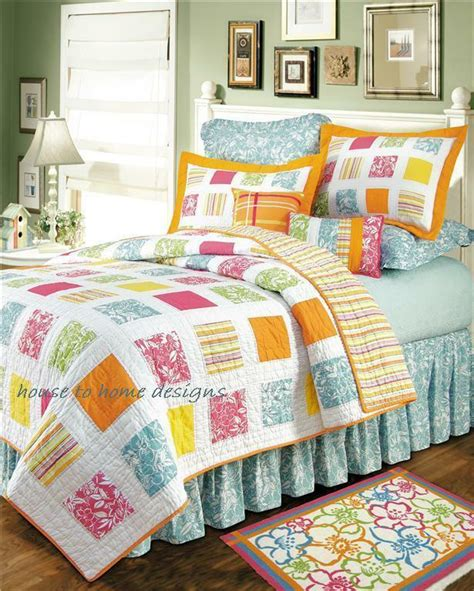 Kauai Full  Queen Quilt Set Hawaiian Tropical Beach