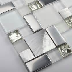 mosaic kitchen tile backsplash glass mosaic kitchen backsplash tile ssmt104 silver stainless steel metal mosaics white