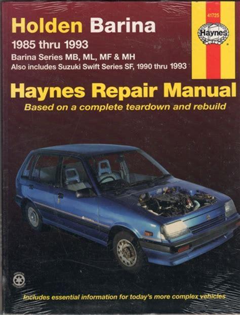 electric and cars manual 1993 suzuki swift user handbook holden barina 1985 1993 suzuki swift 1990 1993 sagin workshop car manuals repair books