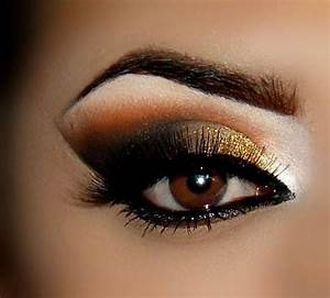 Gold smokey and dramatic eyeshadow #smokey #dark #metallic ...