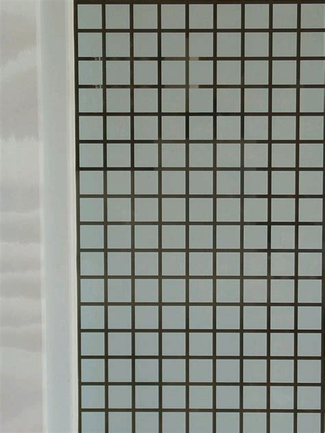 jual sticker kaca motif kotak kotak putih kertas  lapak