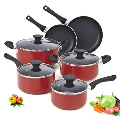 cookware aluminum press cooking nonstick 10pcs pan classic non stick magic sets durable