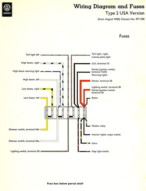 1973 Vw Beetle Light Wiring Diagram Taillight by Thesamba Type 2 Wiring Diagrams